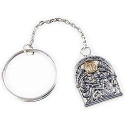Серебряный брелок Знак зодиака Дева с позолотой