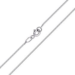 Золотая цепочка Гаррата в панцирном плетении в белом цвете, 1мм