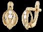 Позолоченные серебряные серьги с цирконием Санджана SLX--С3Ф/054