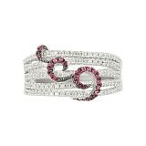 Серебряное кольцо с фианитами Луиза