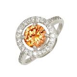 Серебряное кольцо Кристалл с фианитами