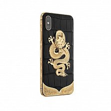 Apple IPhone XS Noblesse DRAGON Exotic edition в черной коже крокодила и изображением дракона
