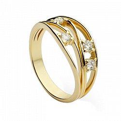 Кольцо из желтого золота Медея с бриллиантами