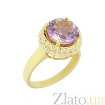 Серебряное кольцо с аметистом и фианитами Рандеву 3К846-0051
