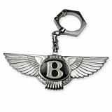 """Брелок для ключей """"Bentley"""" из белого золота."""