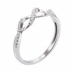 Кольцо в белом золоте Бесконечная нежность с бриллиантами
