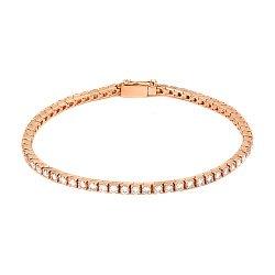Золотой браслет в красном цвете с бриллиантами 000114276