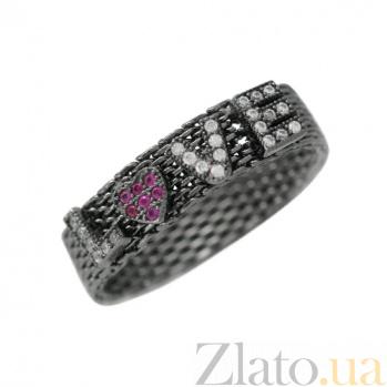 Серебряное кольцо с фианитами Love 3К291-0145