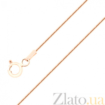 Цепочка из красного золота Змейка в плетении снейк SVA--5081891101/Без вставки