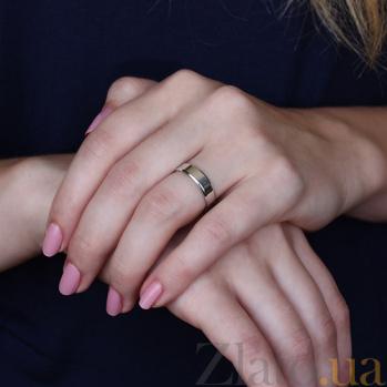 Серебряное обручальное кольцо Алеф 000043138