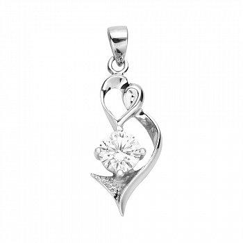 Срібний кулон із цирконієм 000131852