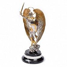 Серебряная статуэтка с позолотой Архангел Михаил