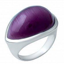 Серебряное кольцо Правильное решение с кошачьим глазом