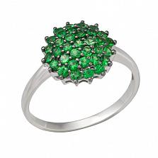 Золотое кольцо Патрисия с гранатами