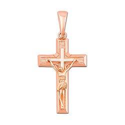 Крестик из красного золота Источник духовной силы 000106377