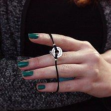 Шёлковый браслет Лучшему братишке с серебряной вставкой