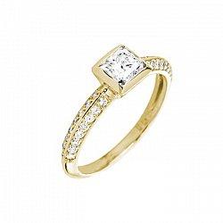 Кольцо в желтом золоте Ориеста с бриллиантами