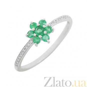 Золотое кольцо с изумрудами и бриллиантами Доминика 1К551-0151