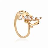 Золотое кольцо с цирконием Астра