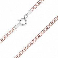 Серебряная цепь Блюз с позолотой, 2,5 мм, 60 см