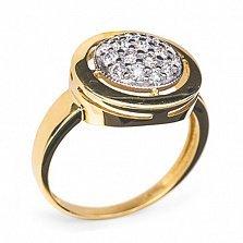Золотое кольцо с бриллиантами Колесо фортуны