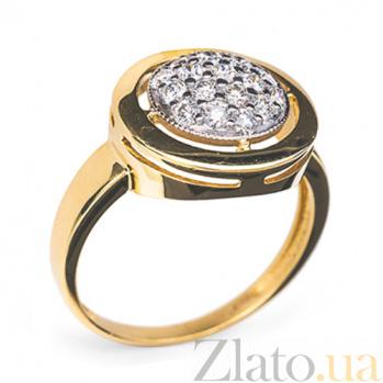 Золотое кольцо с бриллиантами Колесо фортуны R0310