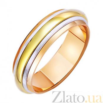 Обручальное кольцо из комбинированного золота Вселенная любви TRF--471652