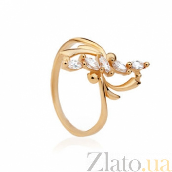 Золотое кольцо с цирконием Астра 000030587