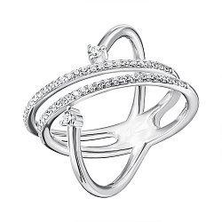 Серебряное кольцо с фианитами 000133957