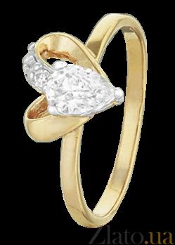 Серебряное кольцо с цирконием Lovely 000025645