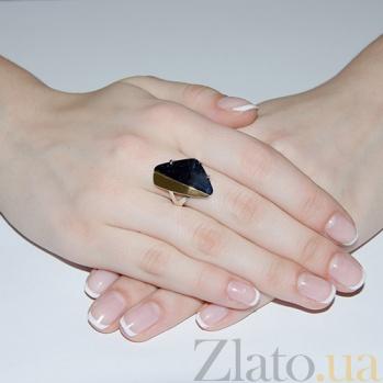 Серебряное кольцо с авантюрином и золотой вставкой София BGS--189к