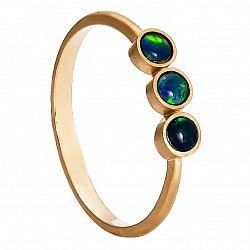Золотое кольцо Эмилия с опалом