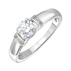 Серебряное кольцо с цирконием Swarovski 000146052