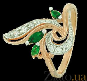 Позолоченное серебряное кольцо с фианитами Весенний бал 000025433