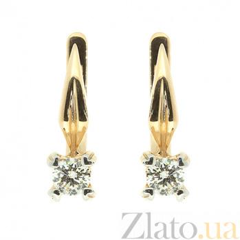 Золотые серьги с бриллиантами Фидель ZMX--ED-6749_K