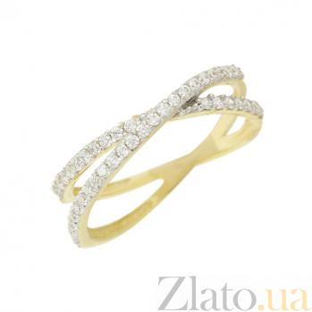 Золотое кольцо с фианитами Злата 2К765-0057