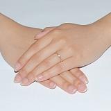 Золотое помолвочное кольцо с бриллиантом Маркиза любви