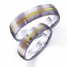 Золотое обручальное кольцо Счастье жить