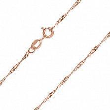 Серебряная цепь Фламенко с позолотой, 2 мм, 55 см