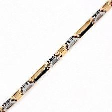 Золотая цепь с ювелирной эмалью Меланфей