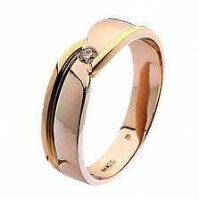 Золотое обручальное кольцо Нежное прикосновение