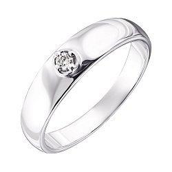 Серебряное кольцо с бриллиантом 000123332