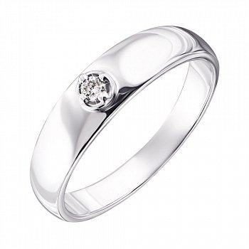 Срібна каблучка з діамантом 000123332