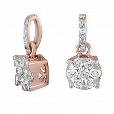 Золотой кулон Марлена с бриллиантами