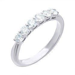 Кольцо из белого золота с бриллиантами 000139449