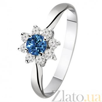 Золотое кольцо с сапфиром и бриллиантами Миранда KBL--К1410/бел/сапф