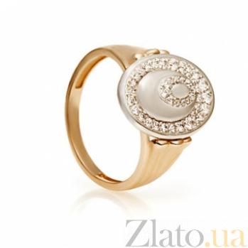 Золотое кольцо с фианитами Севилья 000030593