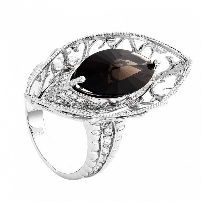 Серебряное кольцо с раухтопазом Саннива 000030076