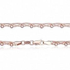 Серебряная цепочка Милена с позолотой, 45 см