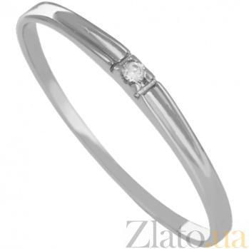 Кольцо из белого золота с фианитом Утонченность 000027244